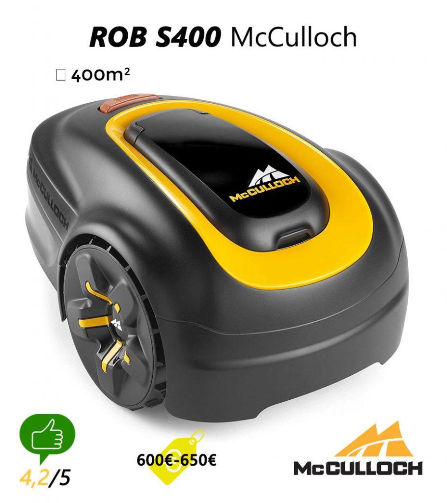 avis robot tondeuse UNIVERS-ROBOT-ROB-S400-McCulloch