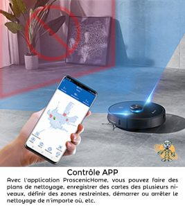 PROSCENIC 2 UNIVERS ROBOT controle app