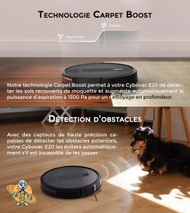Univers robot les plus detection et carpet technologie du cebovac E20
